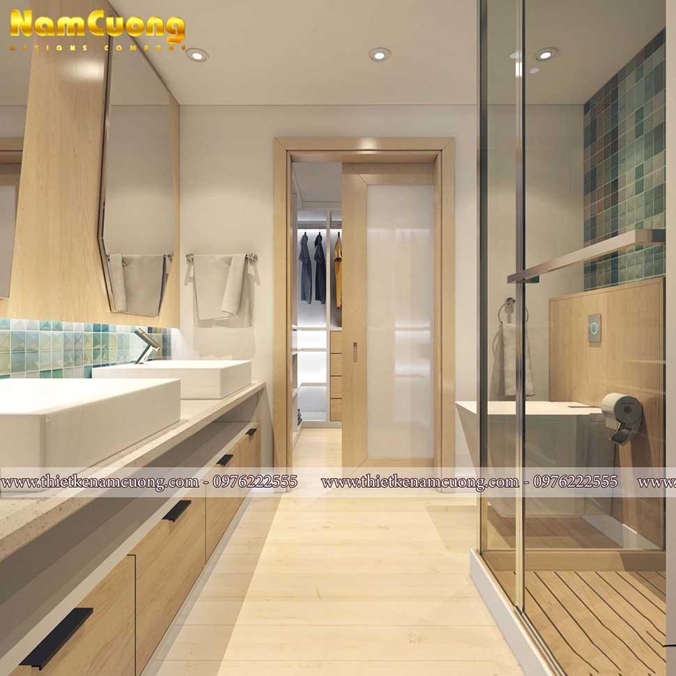 phòng tắm chung cư 3 phòng ngủ