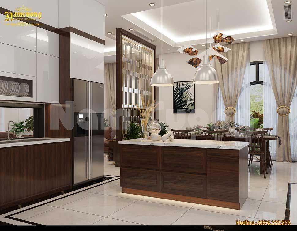 Thiết kế phòng bếp ăn bắt mắt