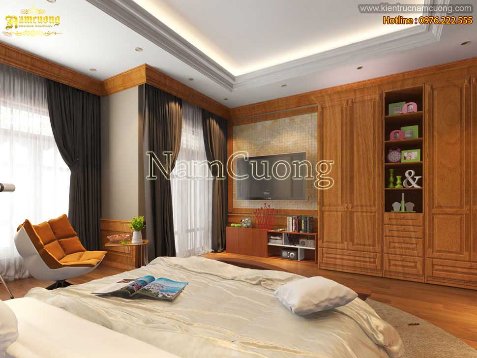 Thiết kế phòng ngủ đơn giản và gọn gàng