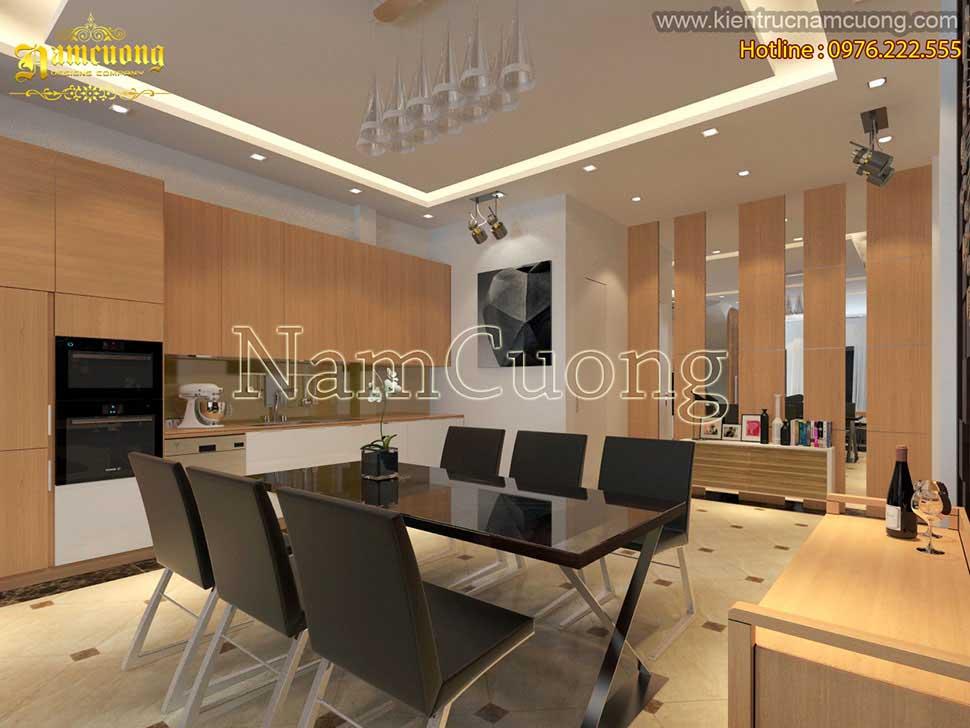 Không gian phòng bếp ấn tượng và hiện đại
