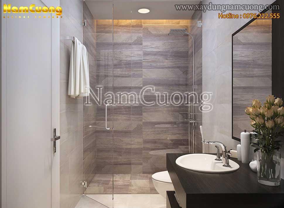 Thiết kế nội thất nhà vệ sinh hiện đại
