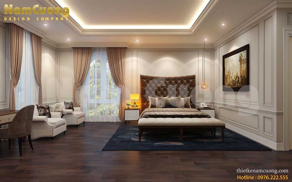 phòng ngủ trong biệt thự