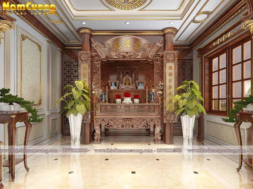 nội thất phòng thờ cổ điển