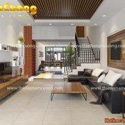 Mẫu thiết kế nội thất tầng 1 biệt thự hiện đại ấn tượng - PKHD 16