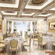 Sự lựa chọn hoàn hảo nhất để làm nổi bật vẻ sang trọng, hào nhoáng, thượng đẳng là thiết kế nội thất phòng ăn khách sạn kiểu Pháp