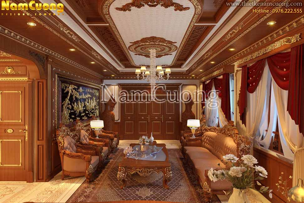 nội thất phòng khách 35m2
