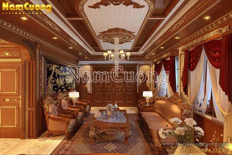 nội thất phòng khách bằng gỗ đẹp