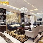 Nội thất phòng khách cao cấp ở Thái Bình
