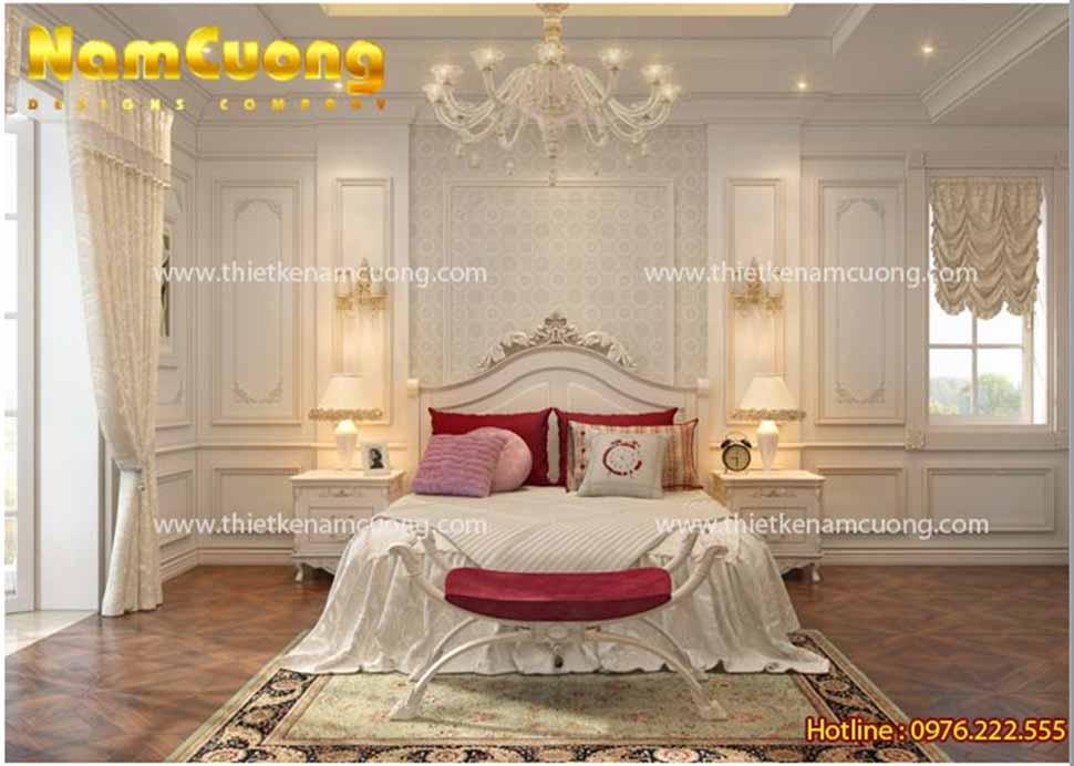 Mẫu nội thất phòng ngủ kiểu Châu âu