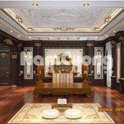Mẫu Thiết kế nội thất phòng thờ biệt thự Pháp