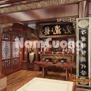 Mẫu thiết kế nội thất phòng thờ tân cổ điển tại Hải Phòng