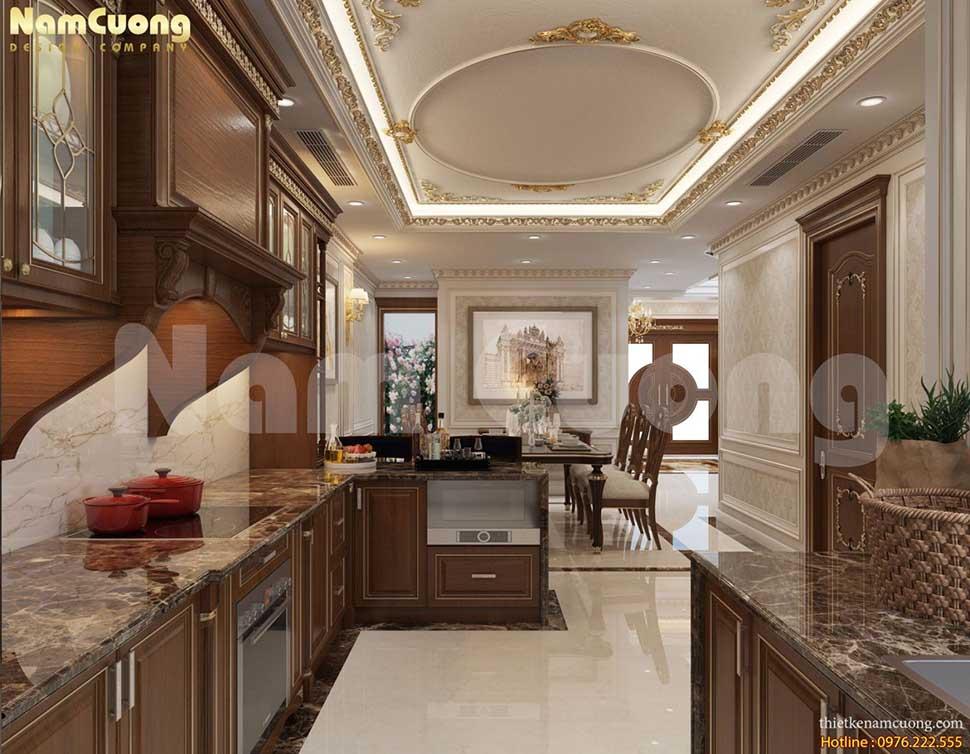 khu bếp nấu biệt thự