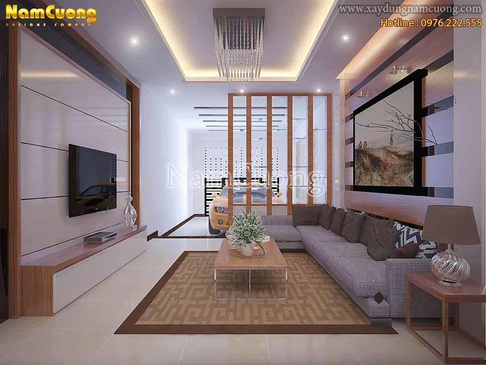 mẫu phòng khách nhà phố đẹp
