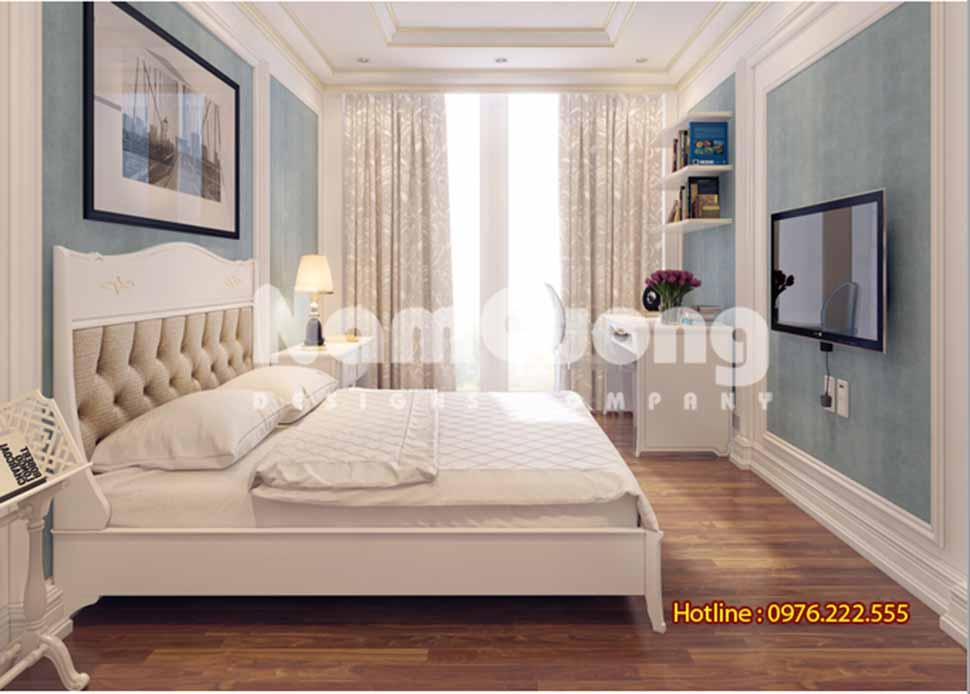 Những mẫu phòng ngủ màu trắng sữa