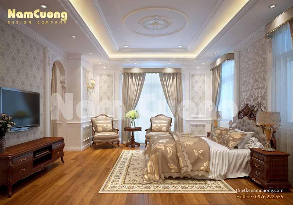phòng ngủ ở lâu đài