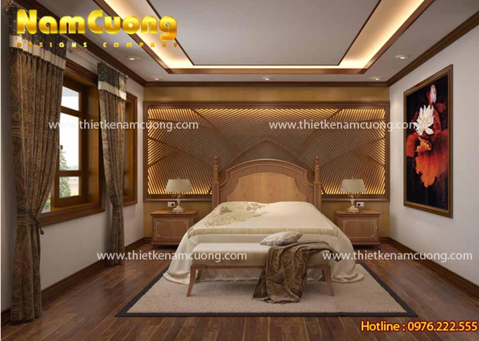 Mẫu thiết kế phòng ngủ tân cổ điển đơn giản
