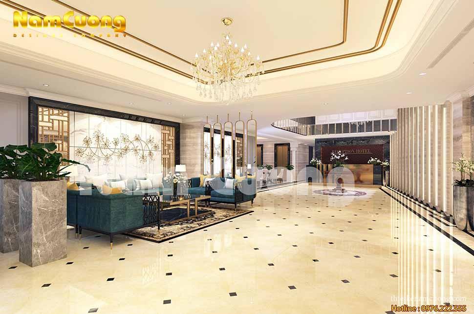 Mẫu thiết kế sảnh khách sạn 4 sao