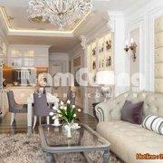 Mẫu thiết kế phòng khách liền phòng bếp tân cổ điển - PKBCD 05