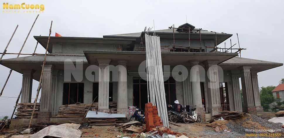 Thi công biệt thự mái Thái tại Quảng Bình