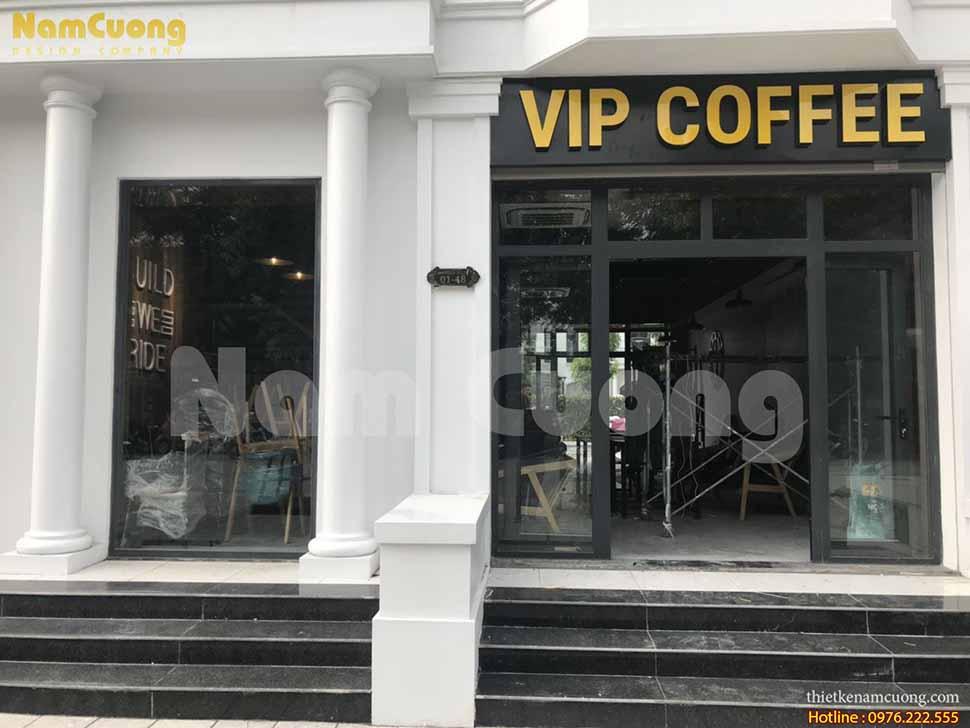 Thi công quán cafe VIP Vinhome tại Hải Phòng