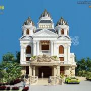 Thiết kế biệt thự lâu đài Pháp tại Sài Gòn