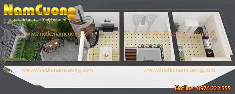 Thiết kế nhà ống 3 tầng 5x20
