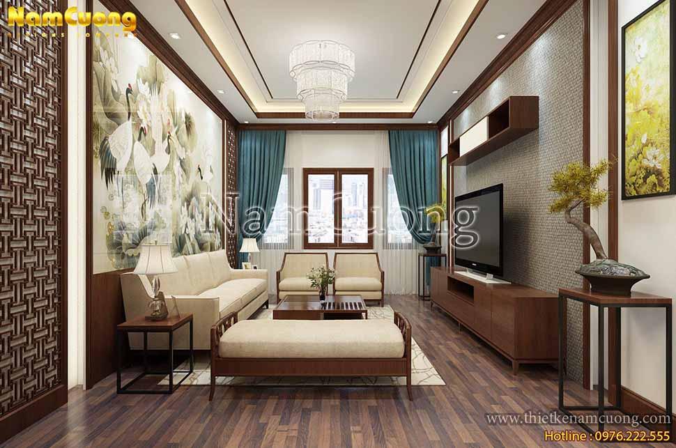 nội thất phòng khách nhà phố 50m2
