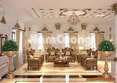 thiết kế nội thất phòng khách 35m