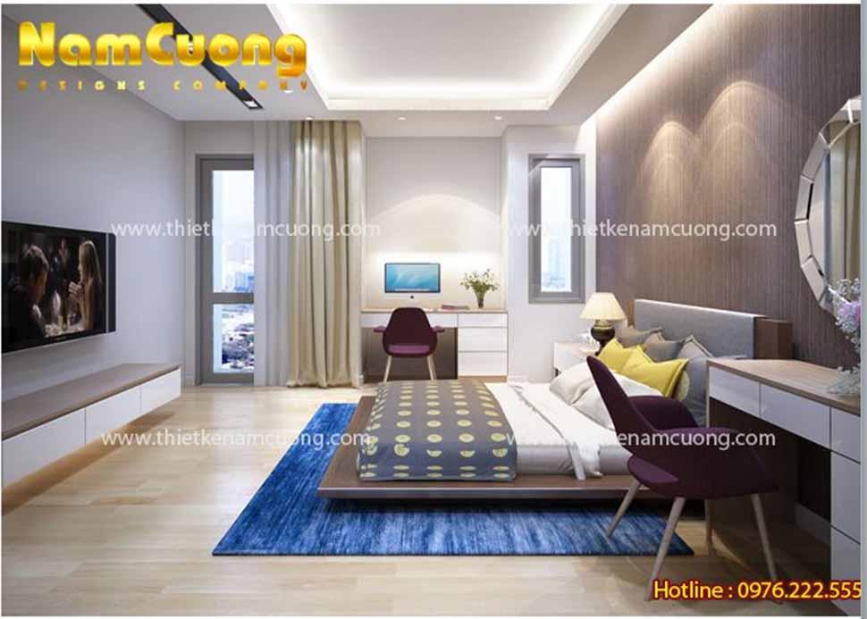 thiết kế phòng ngủ đẹp 12m2