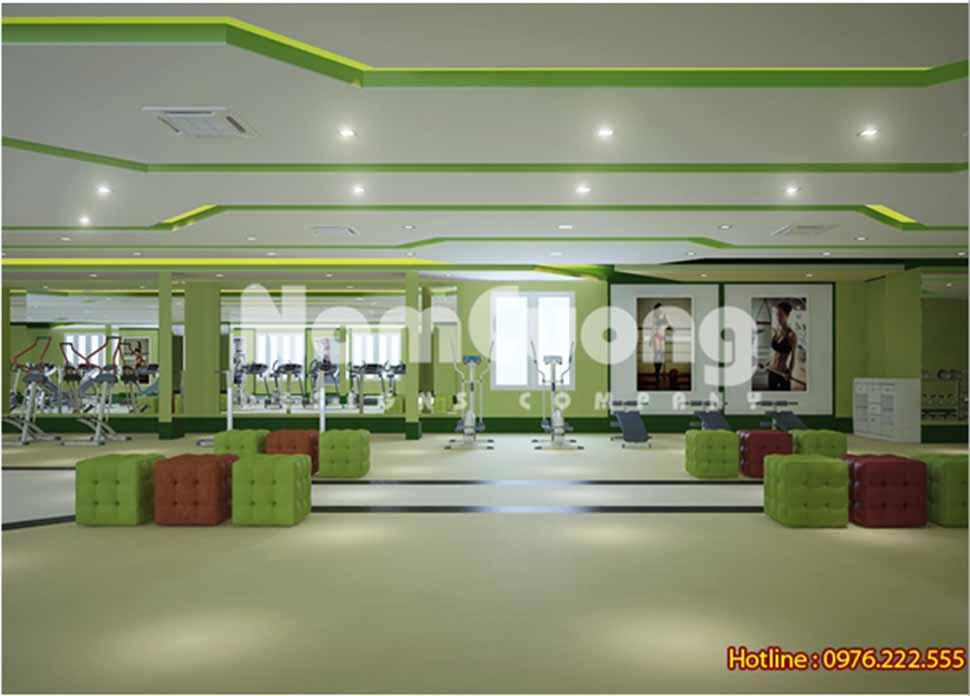 thiết kế phòng tập gym đẹp