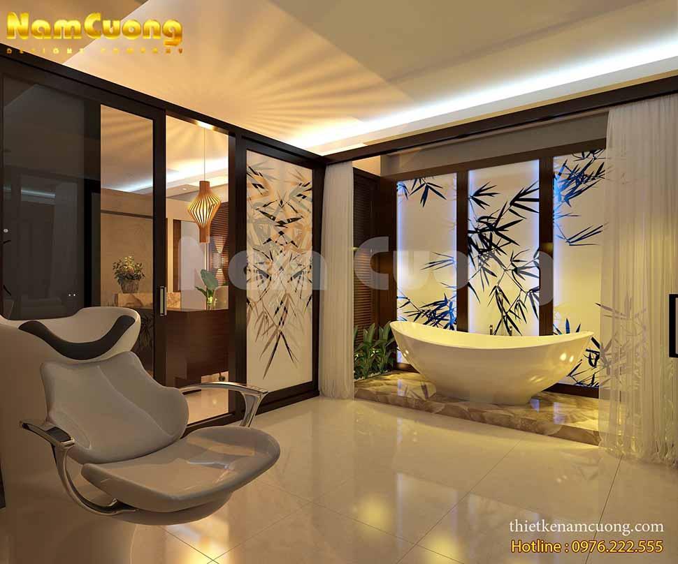 Mẫu thiết kế spa mini tại nhà