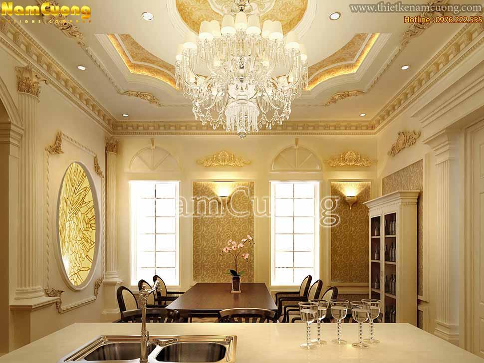 nội thất màu vàng nhatj