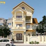Mẫu biệt thự mái Thái 3 tầng đẹp cuốn hút