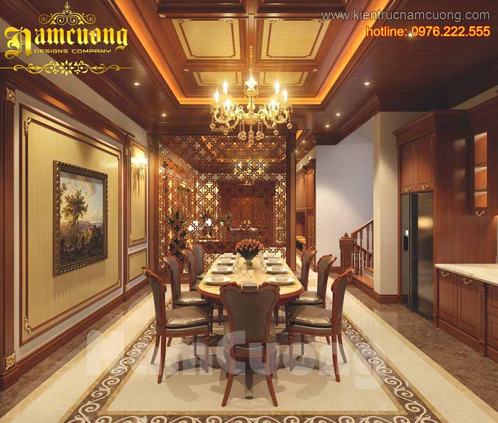 Thiết kế nhà phố 4 tầng tân cổ điển tại Quảng Ninh