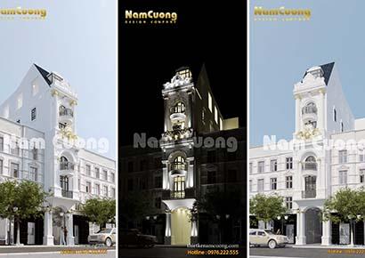Thiết kế kiến trúc khách sạn 3 sao tại Đà Lạt