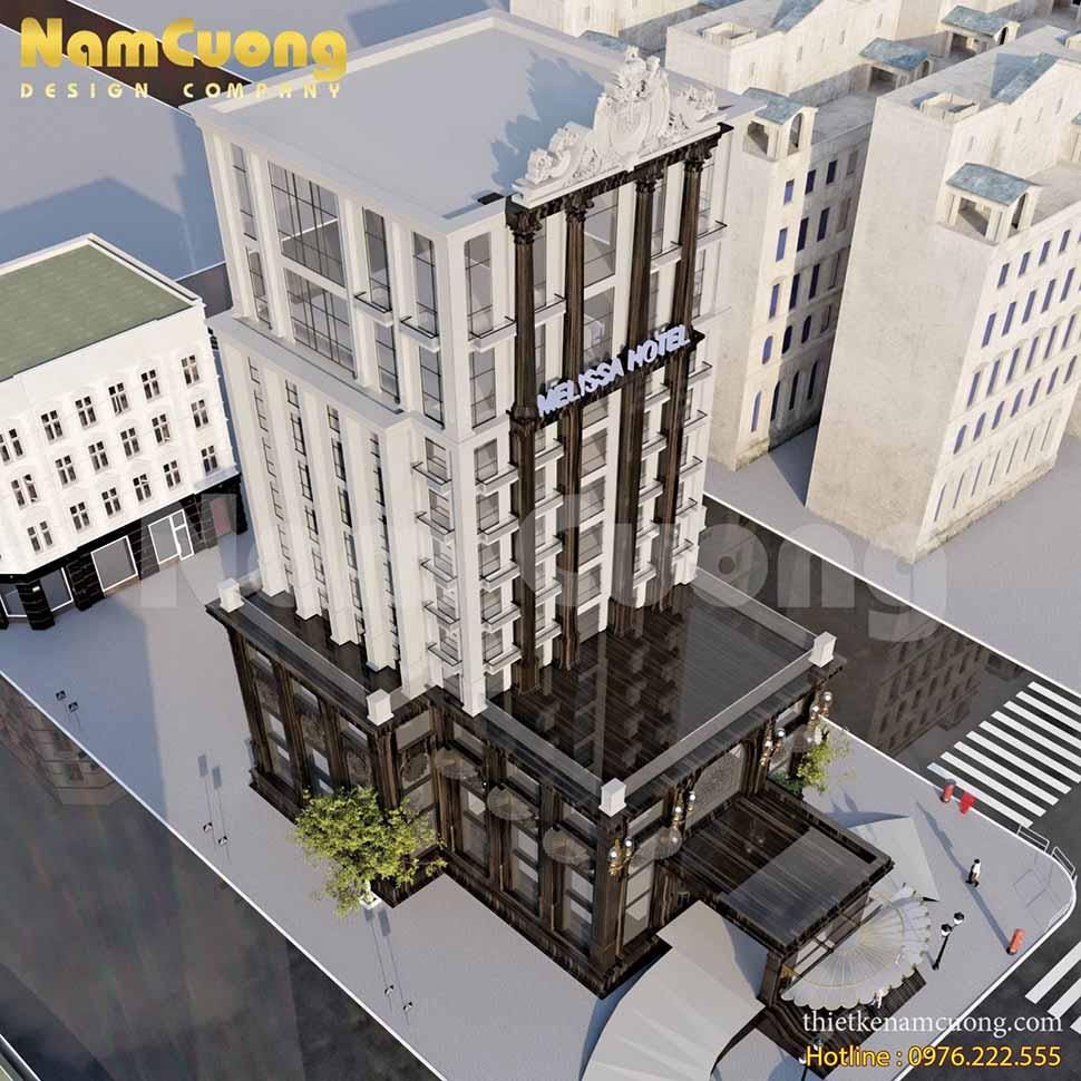 Thiết kế khách sạn tân cổ điển 14 tầng