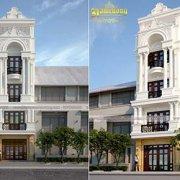 Thiết kế mặt tiền nhà phố tân cổ điển đẹp