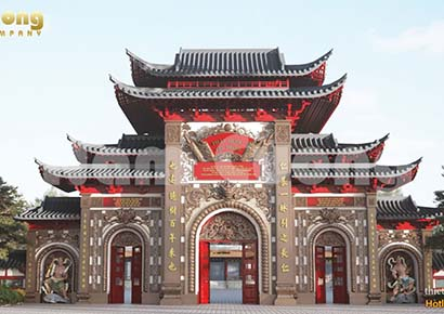 Tham khảo mẫu cổng chùa đẹp tại Bình Phước