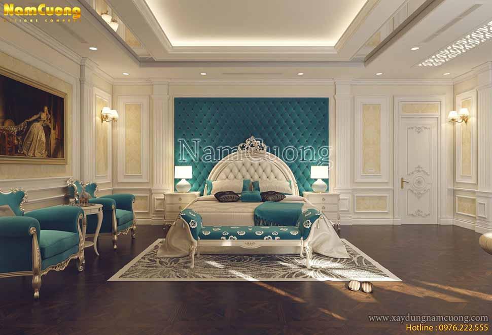 mẫu nội thất tân cổ điển đẹp hạng mục phòng ngủ