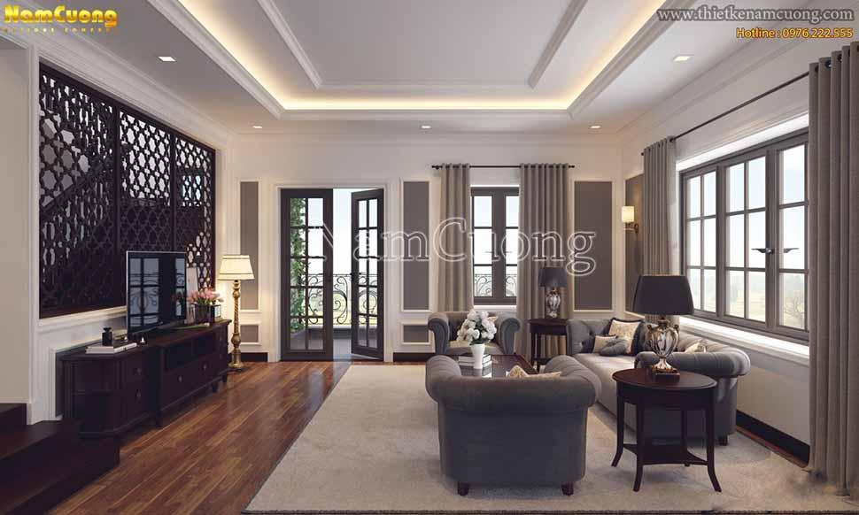 Một góc nhìn khác của mẫu thiết kế nội thất phòng khách