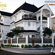 Thiết kế nhà 3 tầng 2 mặt tiền tân cổ điển