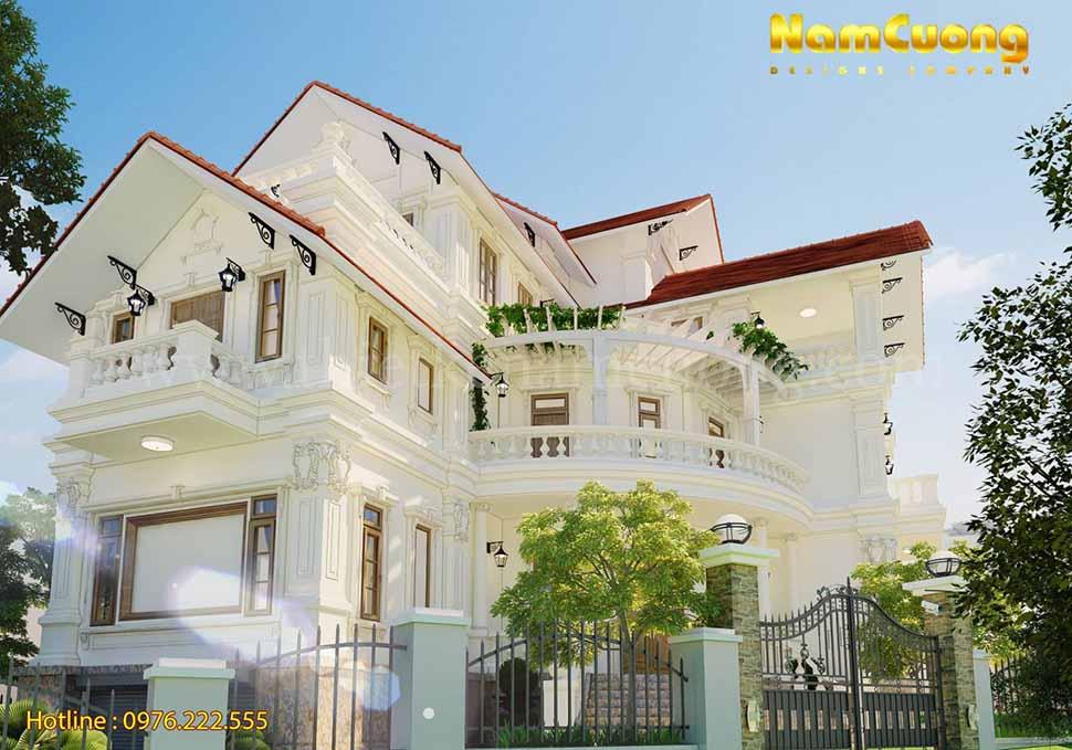 Thiết kế nhà 3 tầng chữ L tại Quảng Ninh
