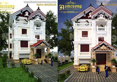 Nhà 3 tầng kiểu Pháp tại Hà Nội