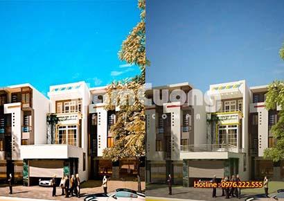 Thiết kế nhà phố 3 tầng 800 triệu