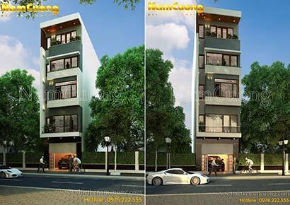 Thiết kế nhà phố 5 tầng hiện đại tại Hải Phòng