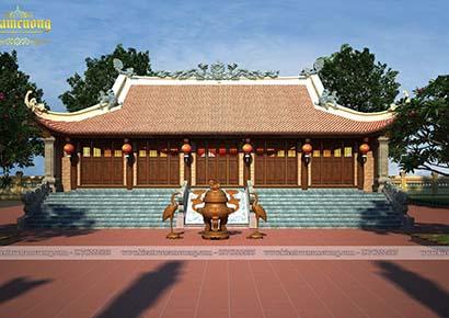 Thiết kế kiến trúc chùa 5 gian chữ Nhất tại Hải Dương