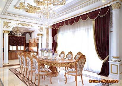 Thiết kế nội thất phòng bếp kiểu Pháp 40m2