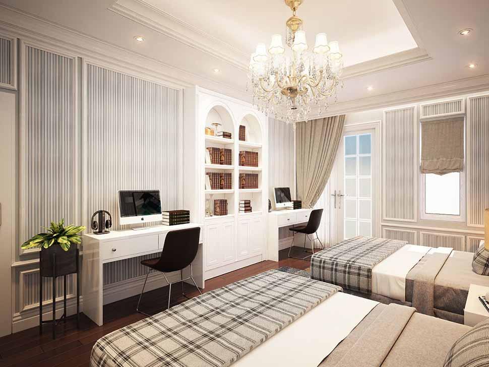 Mẫu nội thất phòng ngủ khách sạn 4 sao
