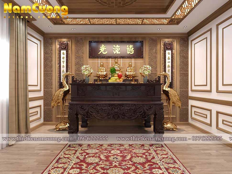 Một số mẫu phòng thờ đẹp cho biệt thự cổ điển