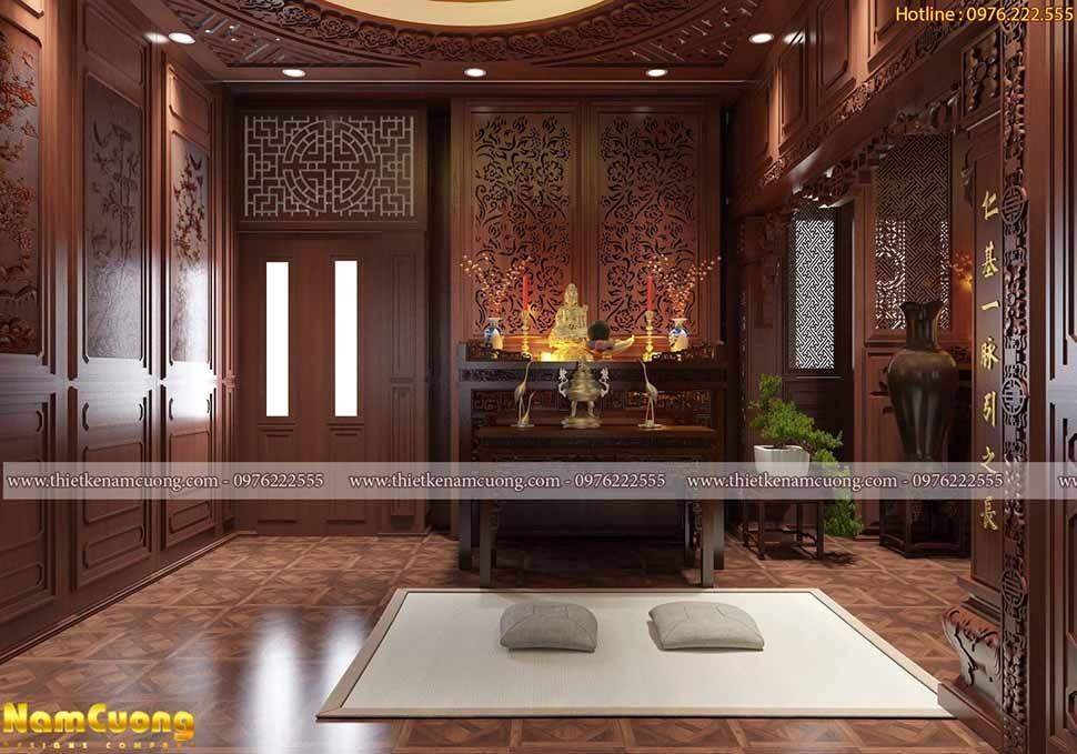 Mẫu thiết kế phòng thờ cố điển Á Đông